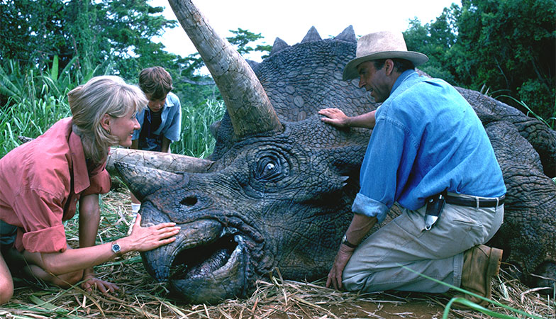 A scene from Jurassic Park