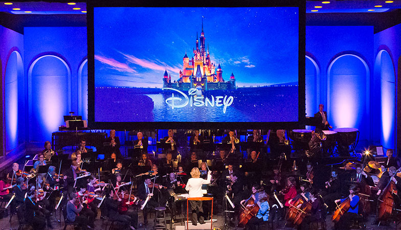 Disney concert with an orchestra