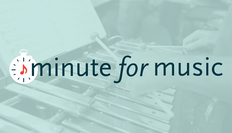 minute for music logo