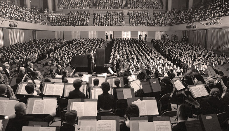 The audience at a 1962 Symphony concert