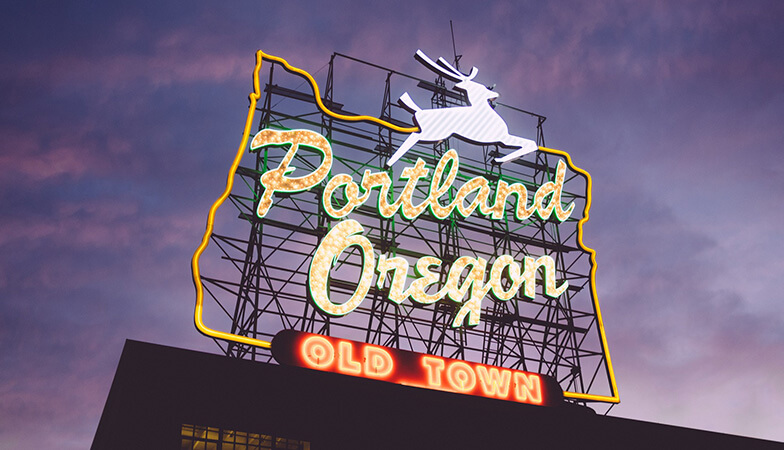 The Portland, Oregon sign