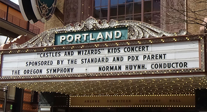 The concert hall marquee