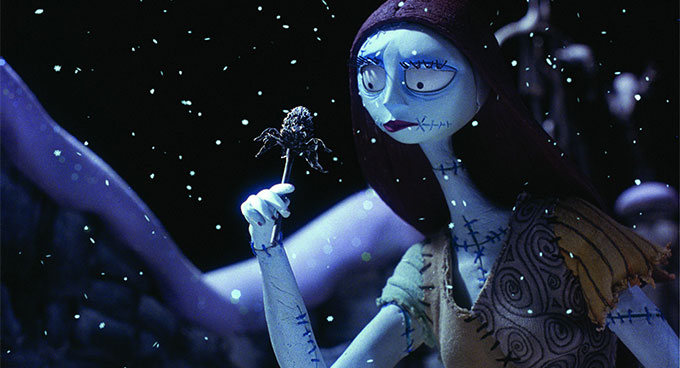 A scene from The Nightmare before Christmas