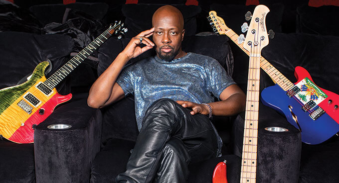 Wyclef Jean Hip Hop Artist with Guitars