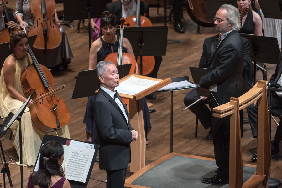 George Takei performs with the orchestra